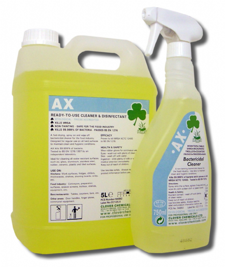 Clover AX - Ready to use Bactericidal Cleaner Kills 99.999% of bacteria
